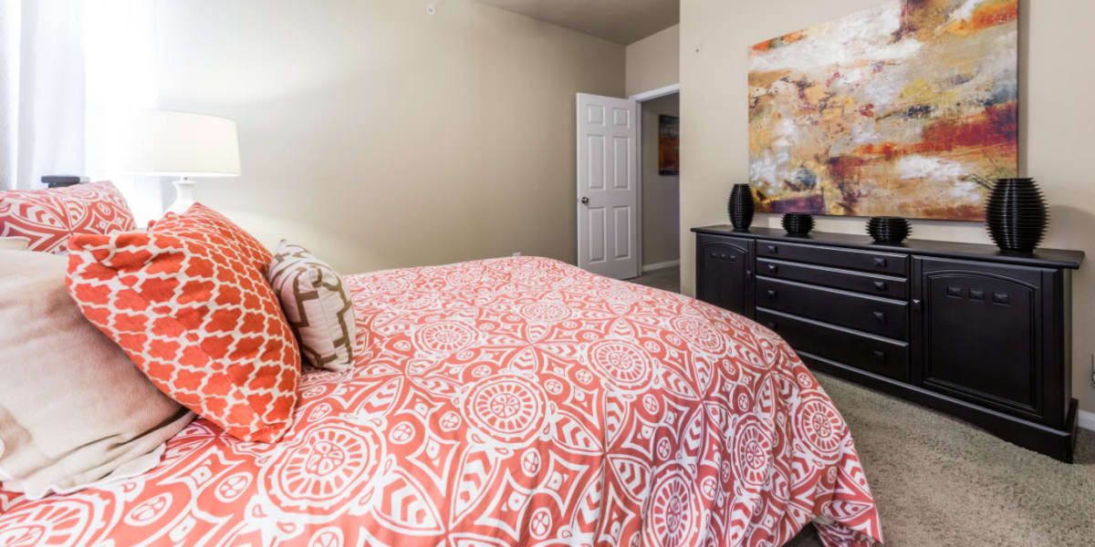 Bedroom at Marquis at Stonegate in Fort Worth, Texas