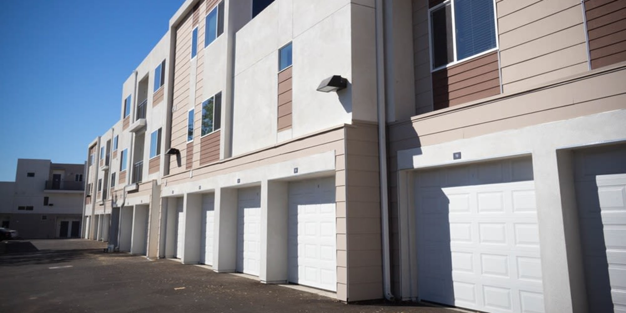 Private garages available at Citron in Ventura, California