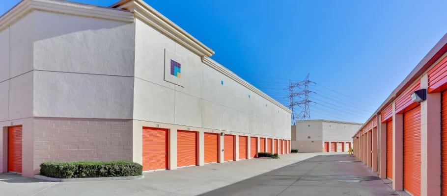 Drive-up storage at A-1 Self Storage in Paramount, California