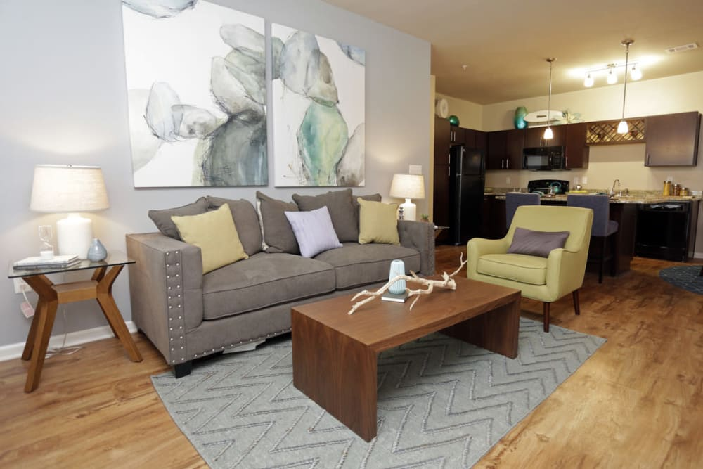 Spacious Living Room at  Springs at Kenosha Apartments in Kenosha