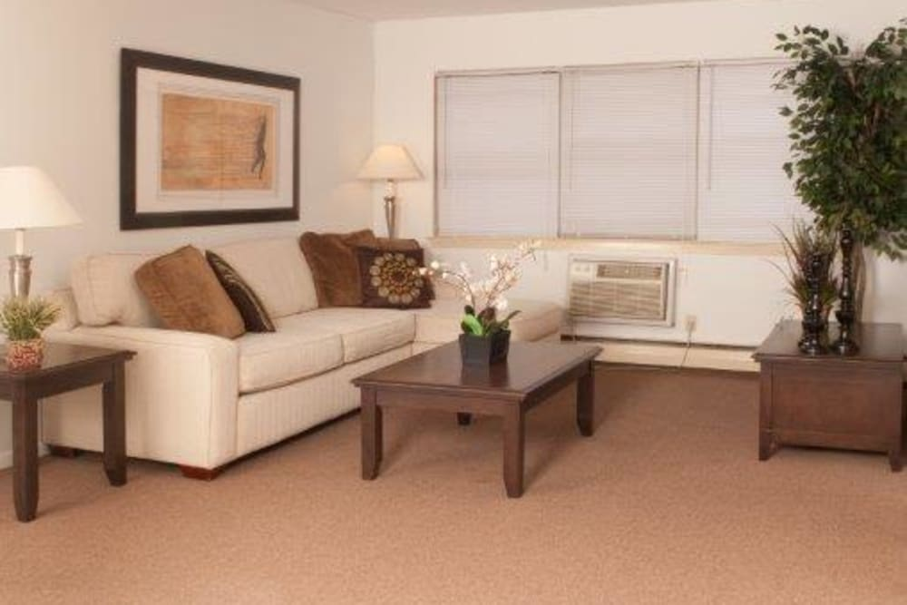 Large living room at Lynn York Apartments in Irvington, New Jersey