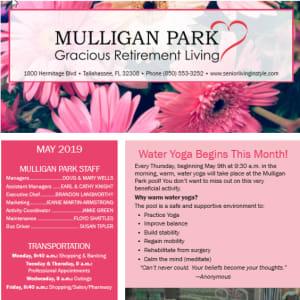May Mulligan Park Gracious Retirement Living newsletter