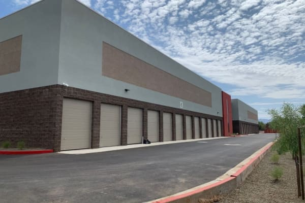 A row of outdoor units at Towne Storage in Mesa, Arizona.