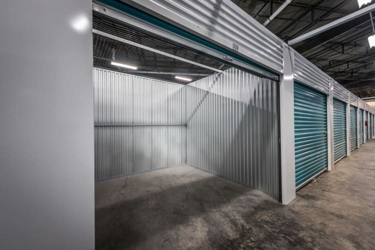 View inside of a storage unit at Riverfront Self Storage in New Orleans, Louisiana
