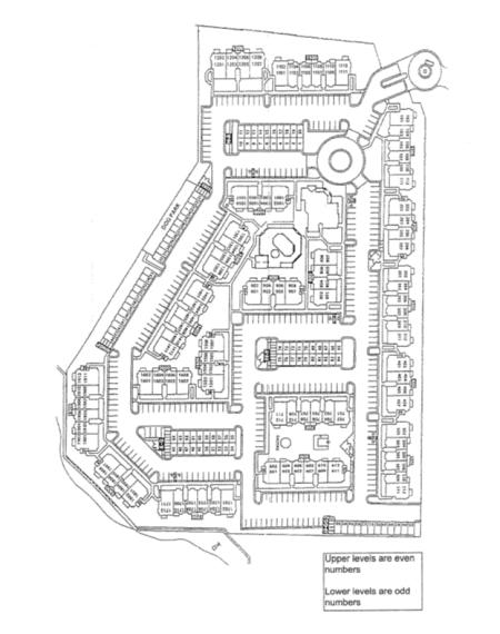 Site map for Huntington Park Apartments in Wichita, Kansas