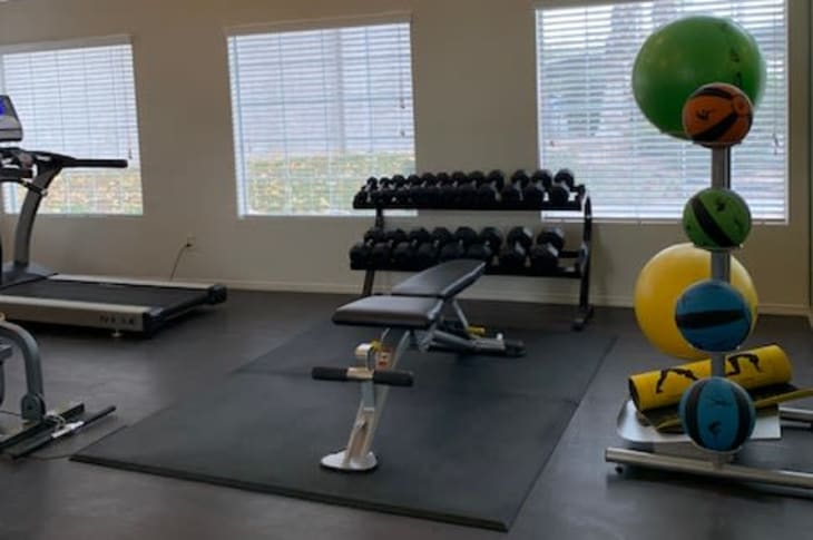 Fitness gym at Sunrise Springs Apartments in Las Vegas, Nevada