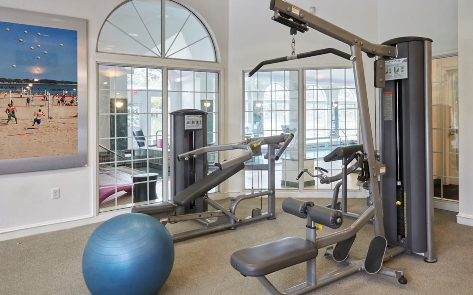 Exercise equipment at Citation Club in Farmington Hills, Michigan