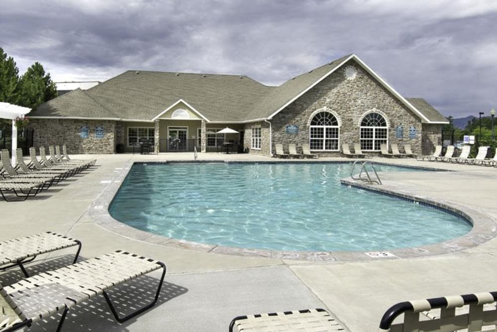 Outdoor pool at Fairstone at Riverview Apartments in Taylorsville, Utah