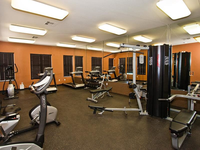 The gym at Monterra Apartment Homes