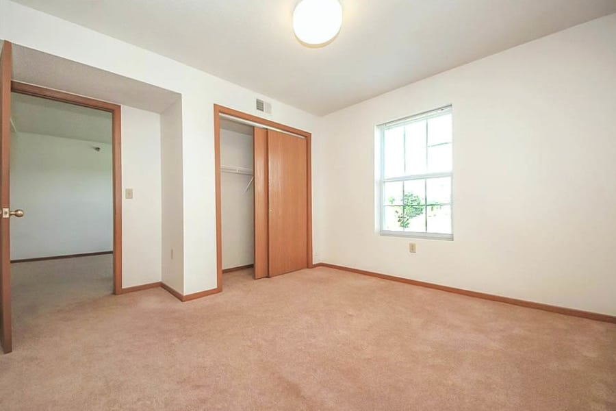 Spacious and bright bedroom at Regency Heights in Iowa City, Iowa