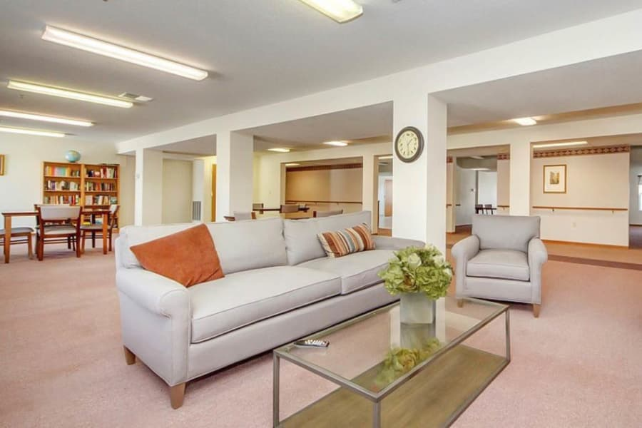 Spacious clubhouse at Regency Heights in Iowa City, Iowa