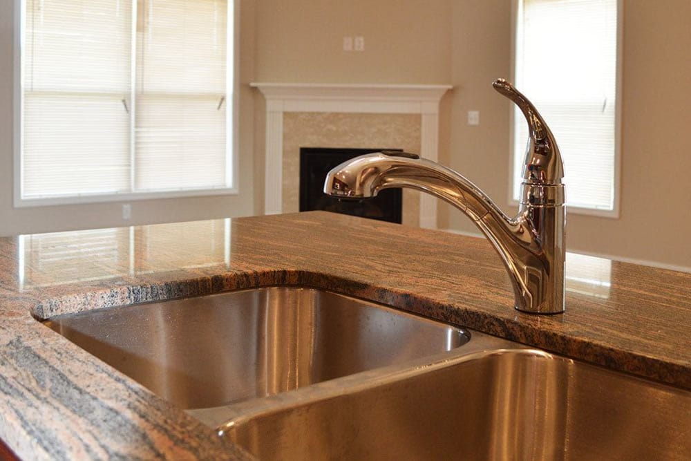 Luxury kitchen finishes at Village Path in Webster NY