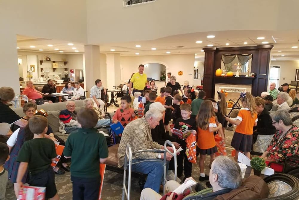 A Halloween event with residents and children at Inspired Living Kenner in Kenner, Louisiana.