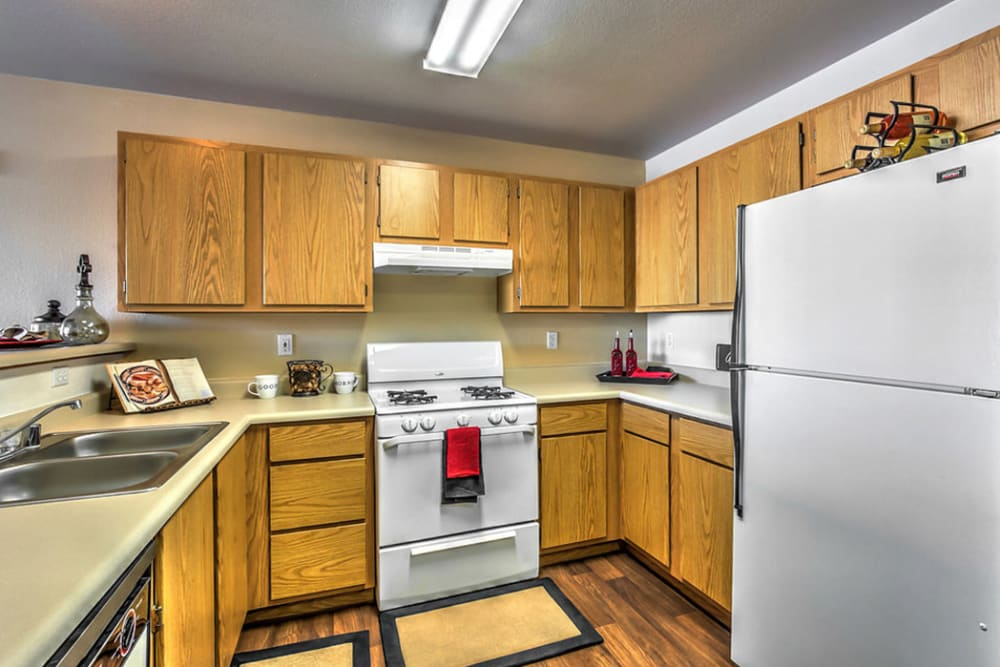 model Kitchen at Portola Del Sol apartment in Las Vegas