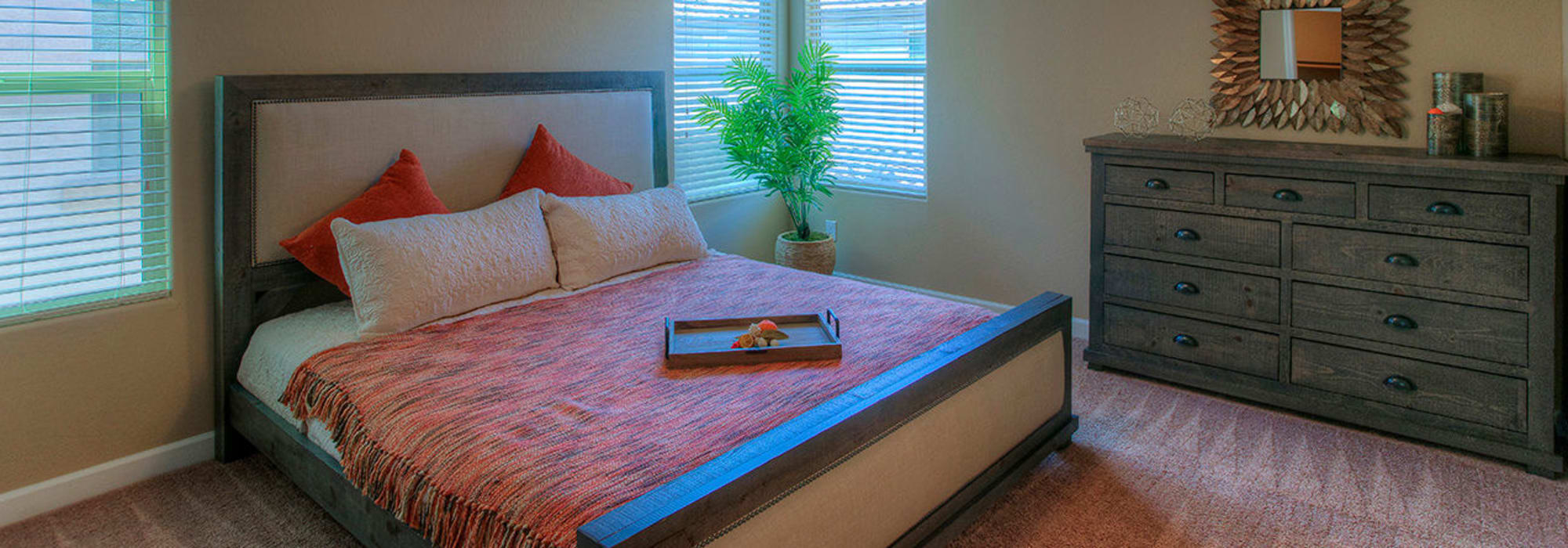 Master bedroom at BB Living at Higley Park in Gilbert, Arizona