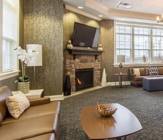 Luxury clubhouse at Ethan Pointe Apartments in Rochester, New York