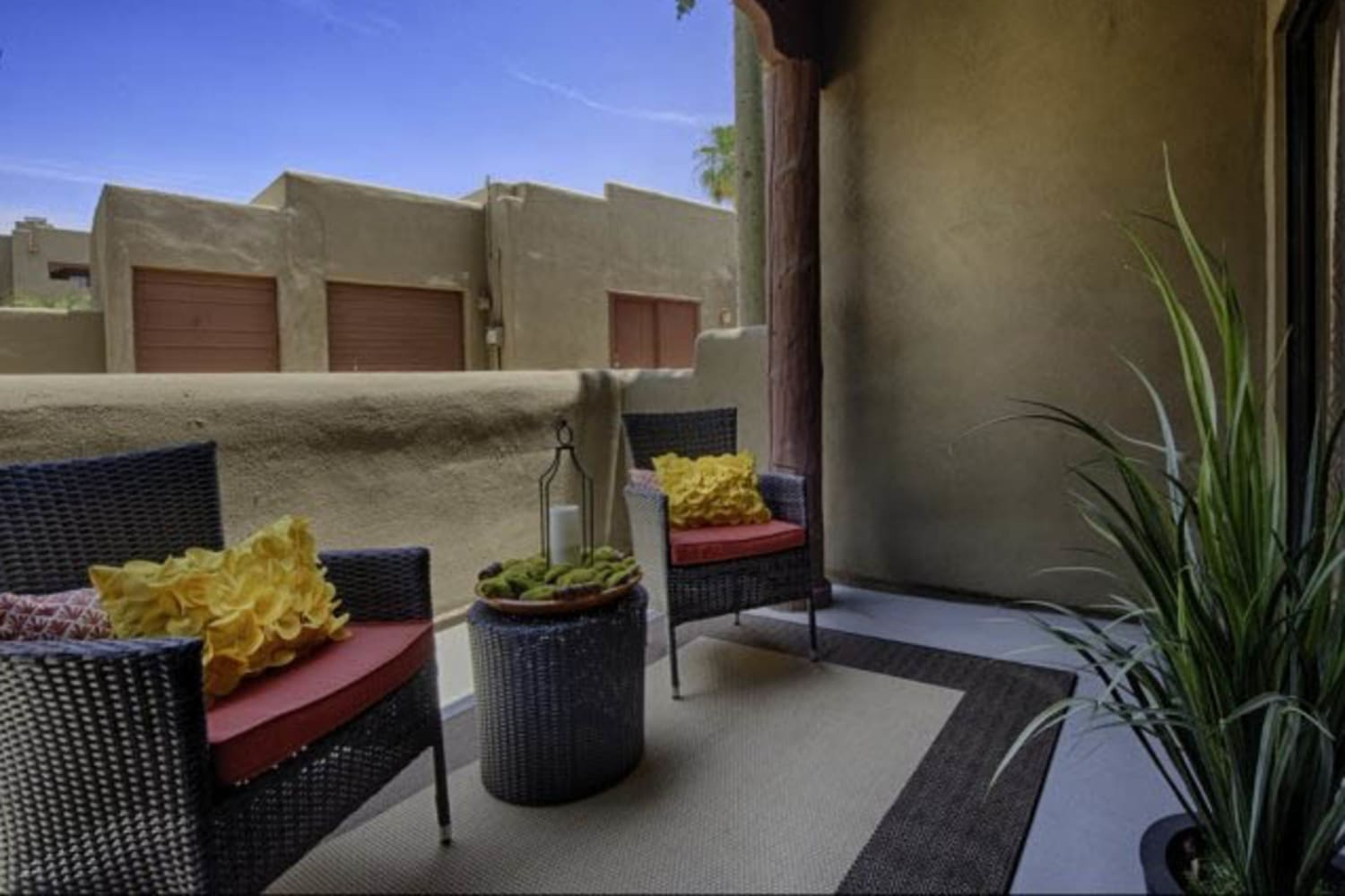 Balcony at Casa Santa Fe Apartments in Scottsdale, Arizona