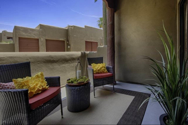 Balcony at Casa Santa Fe Apartments in Scottsdale, Arizona