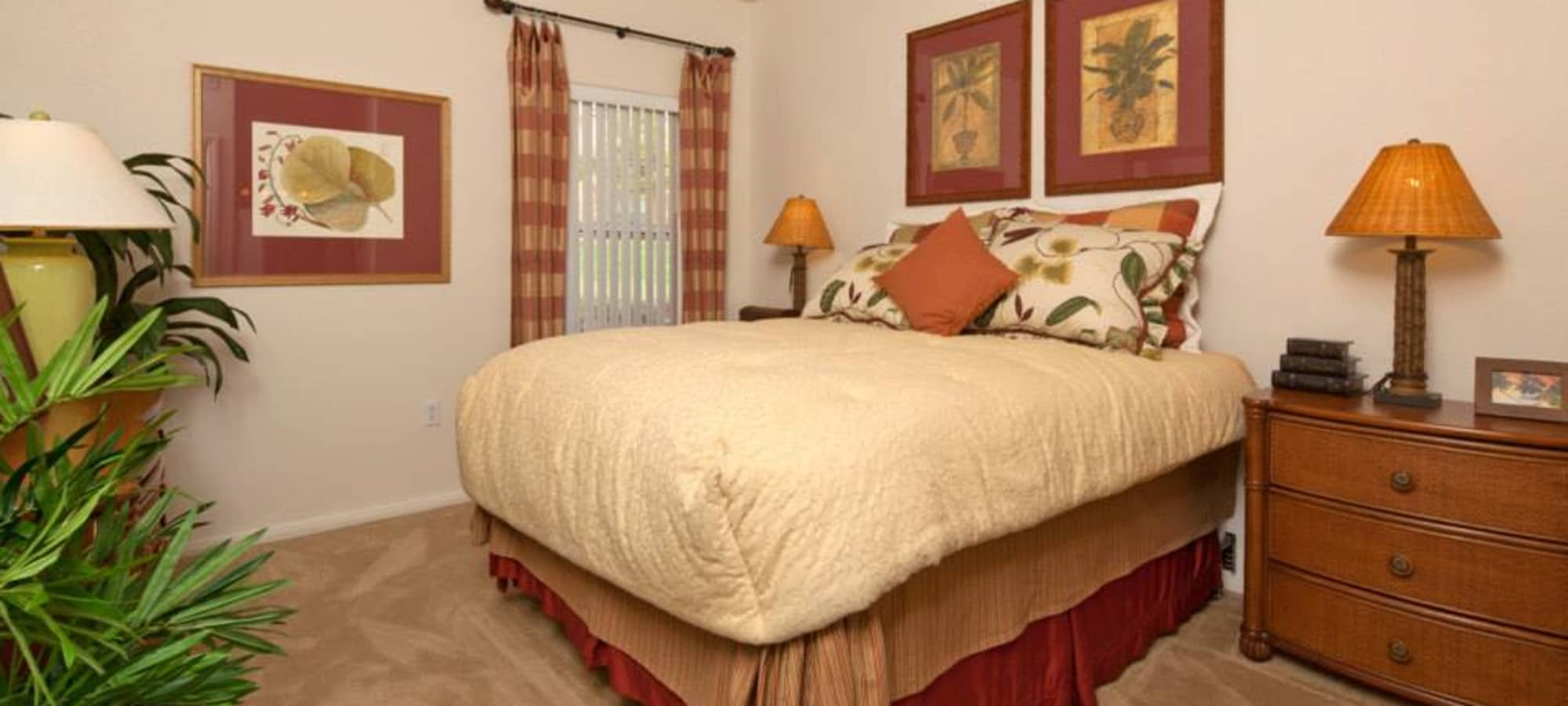 Comfortable master bedroom at Shadow Hills at Lone Mountain in Las Vegas, Nevada