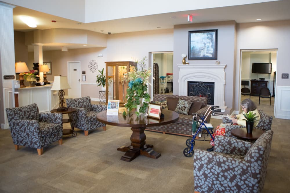 Relax for a spell at FountainBrook Assisted Living & Memory Support's lounge