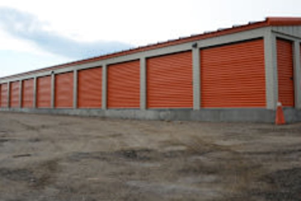 A row of storage units at Apple Self Storage - Thunder Bay - Intercity in Thunder Bay, Ontario