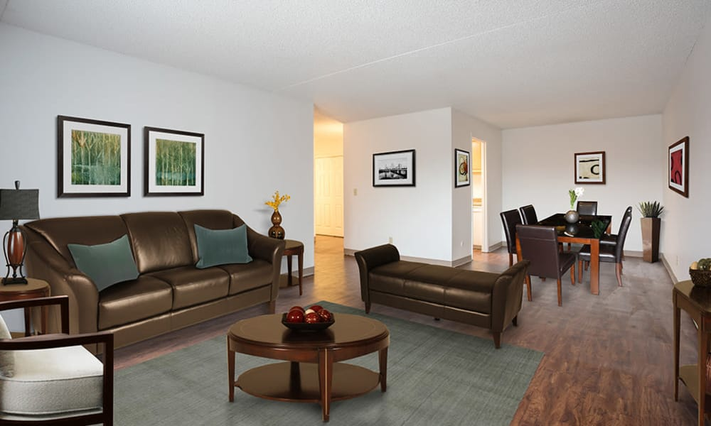 Living room at Park Guilderland Apartments in Guilderland Center, New York