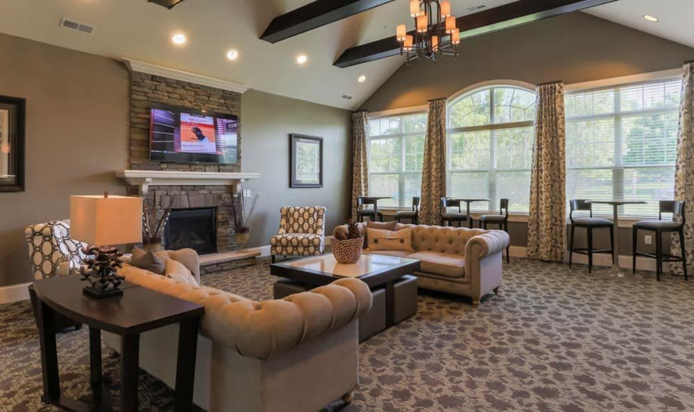 Clubhouse interior at Auburn Creek Apartments