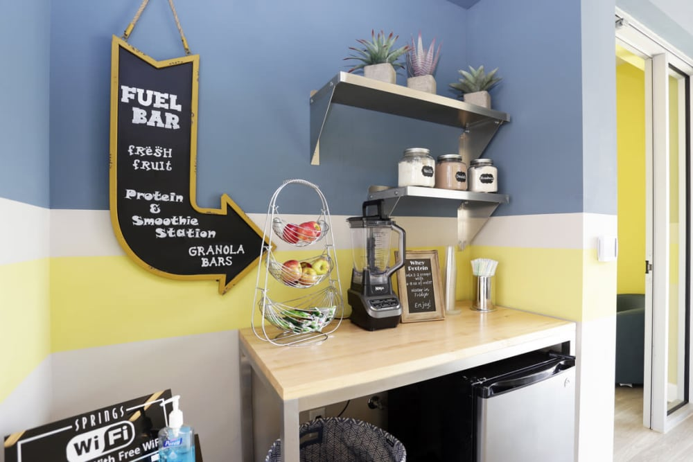 Smoothie bar at Springs at Kenosha Apartments in Kenosha
