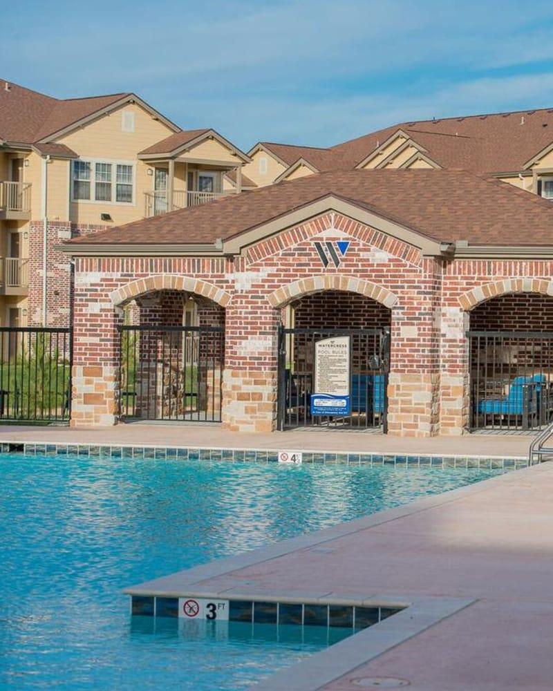 Resort style pool at Watercress Apartments in Maize, Kansas