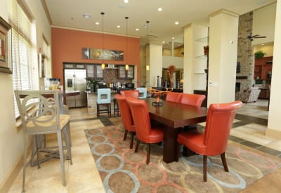 Gorgeously decorated resident clubhouse at Evolv in Mansfield, Texas