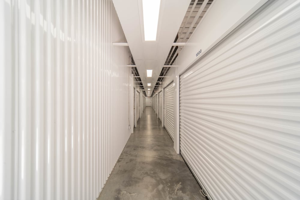 Interior units at Anchor Self Storage of Huntersville in Huntersville, North Carolina