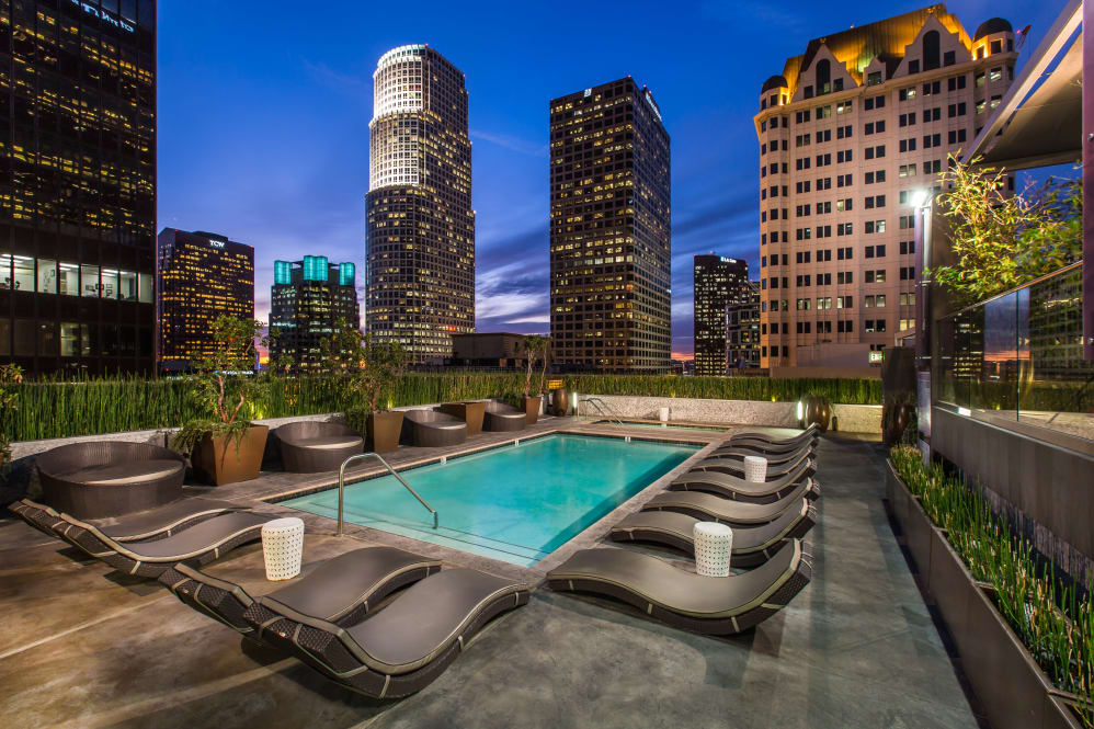 Roof top pool At The Roosevelt