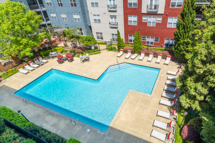 resort-style swimming pool at City View in Atlanta, Georgia