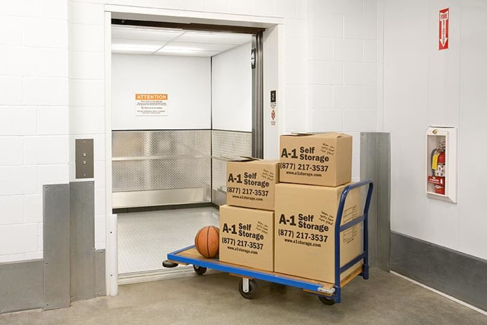 Boxes at A-1 Self Storage