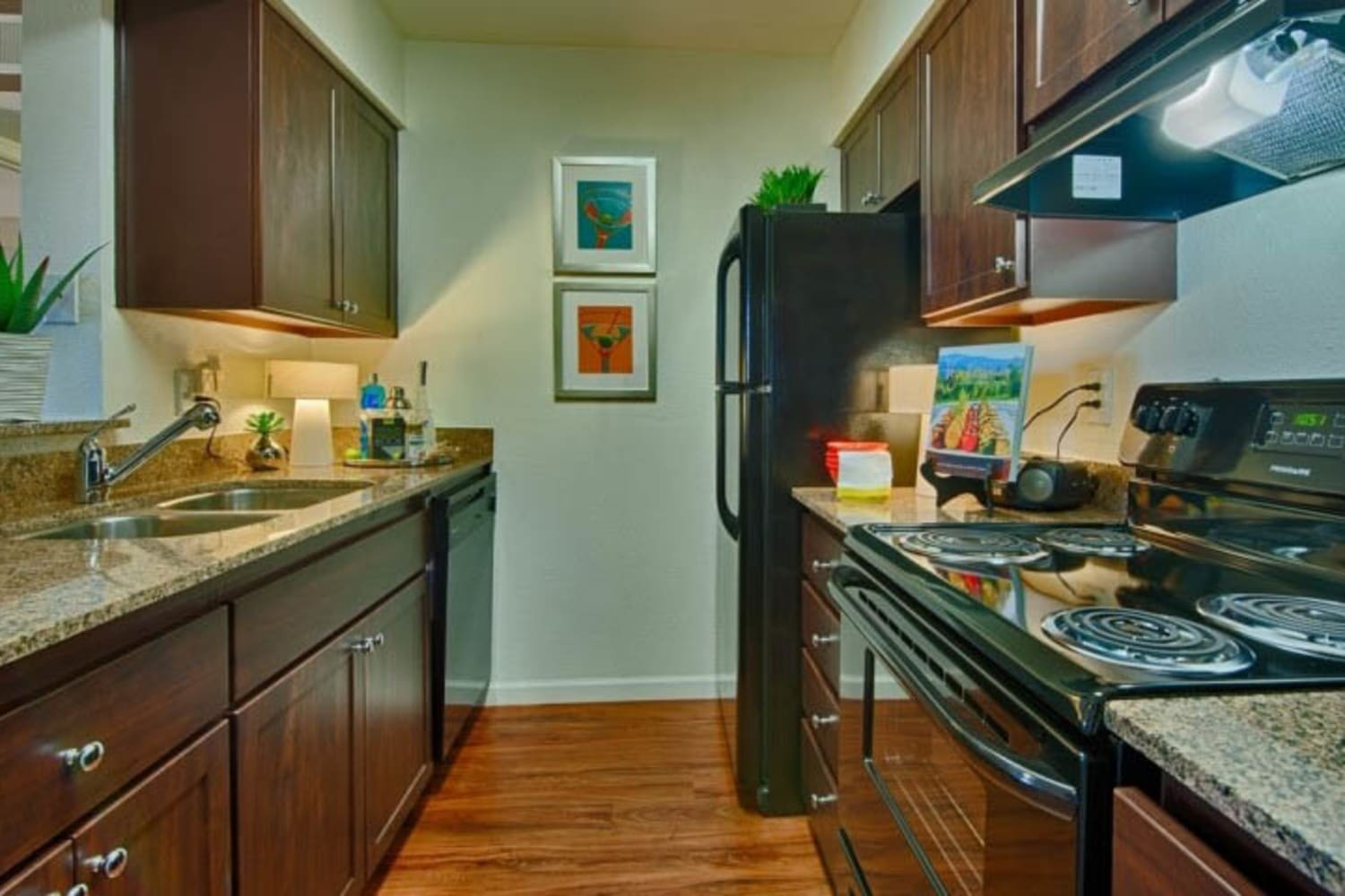 Modern kitchen at Cabrillo Apartments in Scottsdale, Arizona