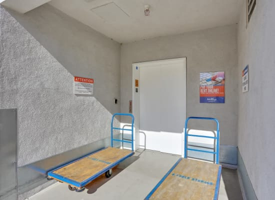 Moving carts available at A-1 Self Storage in Lake Forest, California
