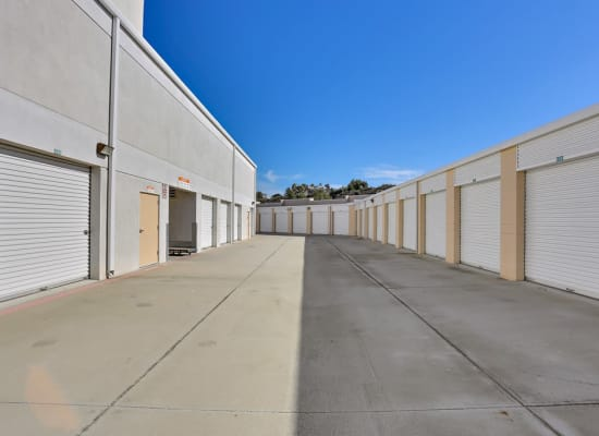 Drive-up storage units at A-1 Self Storage in Lake Forest, California