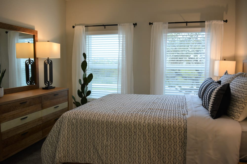 Bedroom at The Abbey at Sonterra in San Antonio, Texas