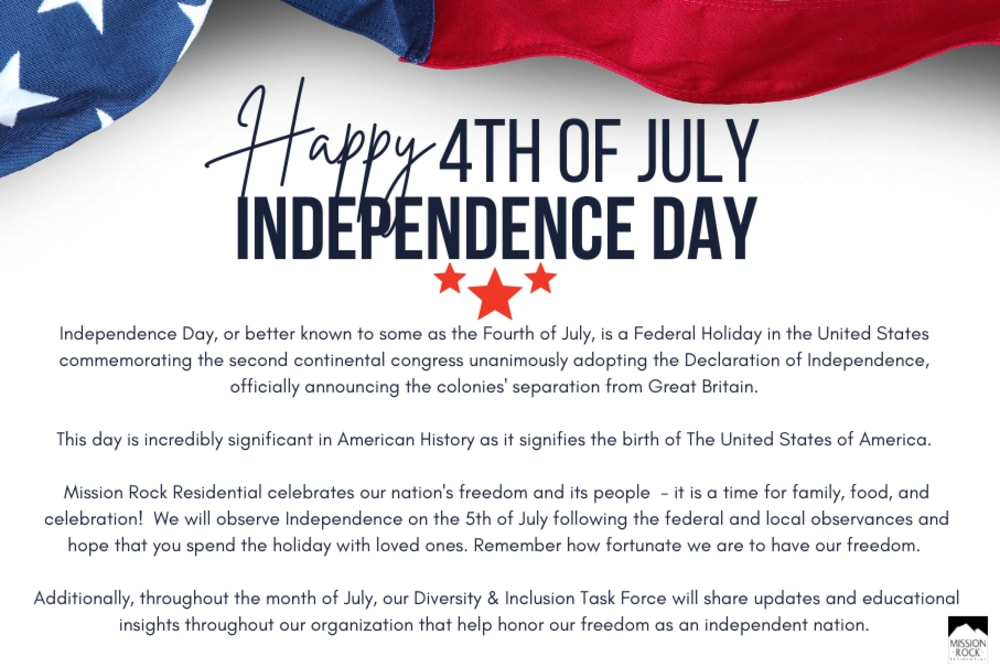 July 4th - Independence Day Celebration
