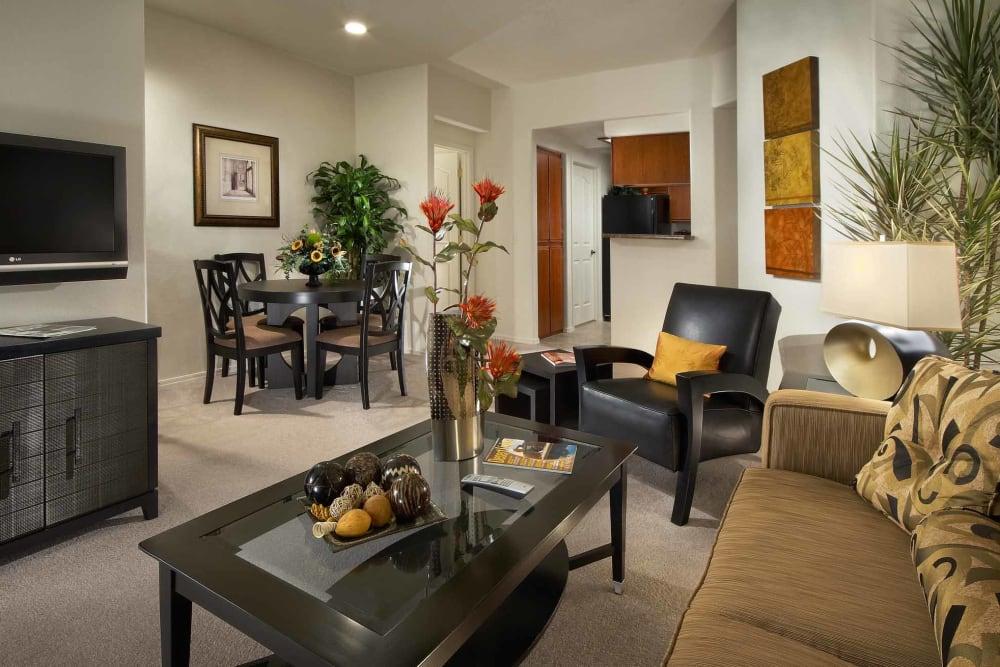 Beautiful open-concept floor plan in model home at San Hacienda in Chandler, Arizona