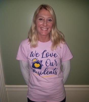 Alissa Hitzemann, Life Enrichment Coordinator at Garden Place Columbia in Columbia, Illinois.