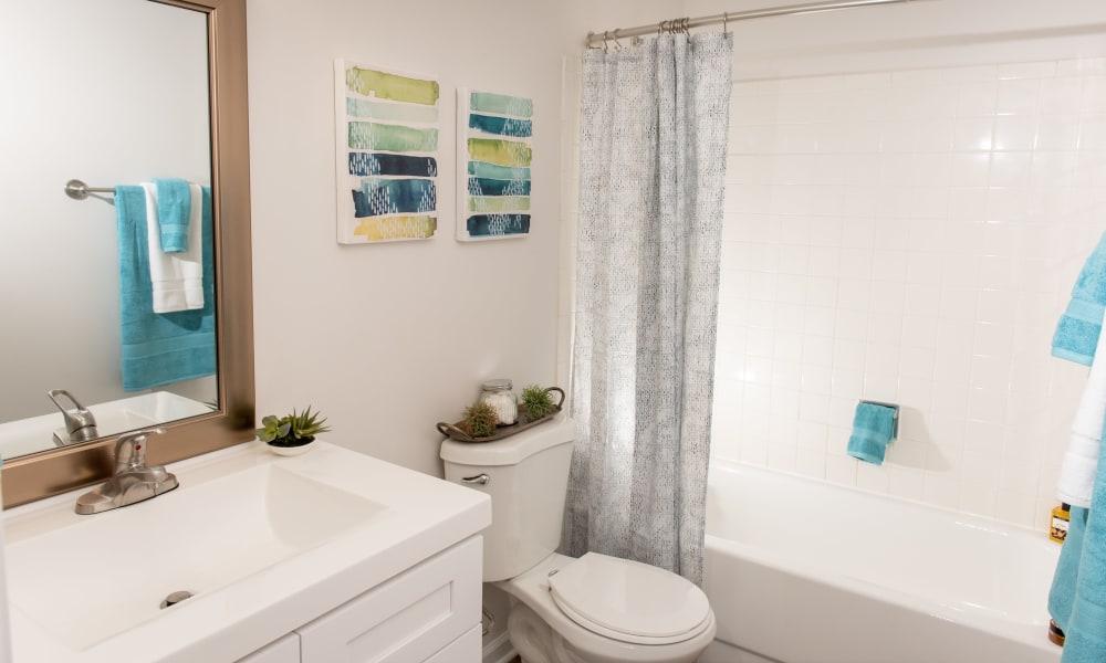 Bathroom at Mandalane Apartments in Wheeling, Illinois