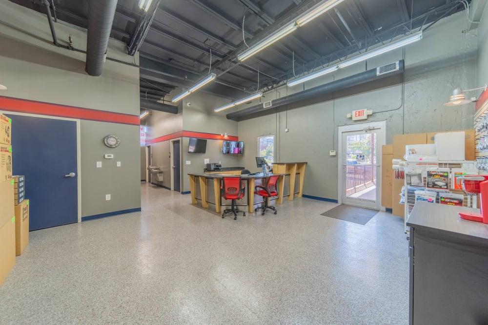 Interior view at self storage facility in Charlotte, North Carolina