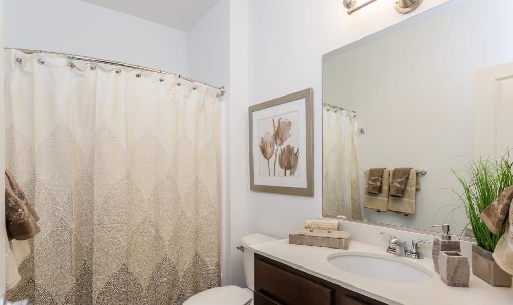 Bathroom at Union Square Apartments in North Chili, New York