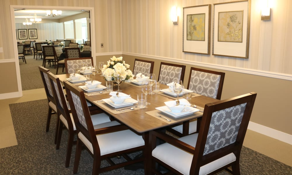 Private dining room at The Sanctuary at Brooklyn Center in Brooklyn Center, Minnesota