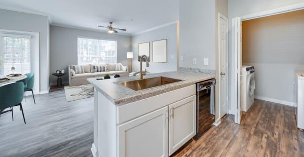 A brightly lit kitchen at Preston View in Morrisville, North Carolina