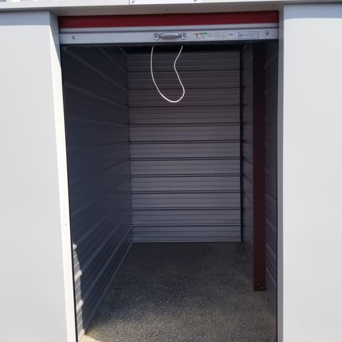 Interior of 5x10 storage unit