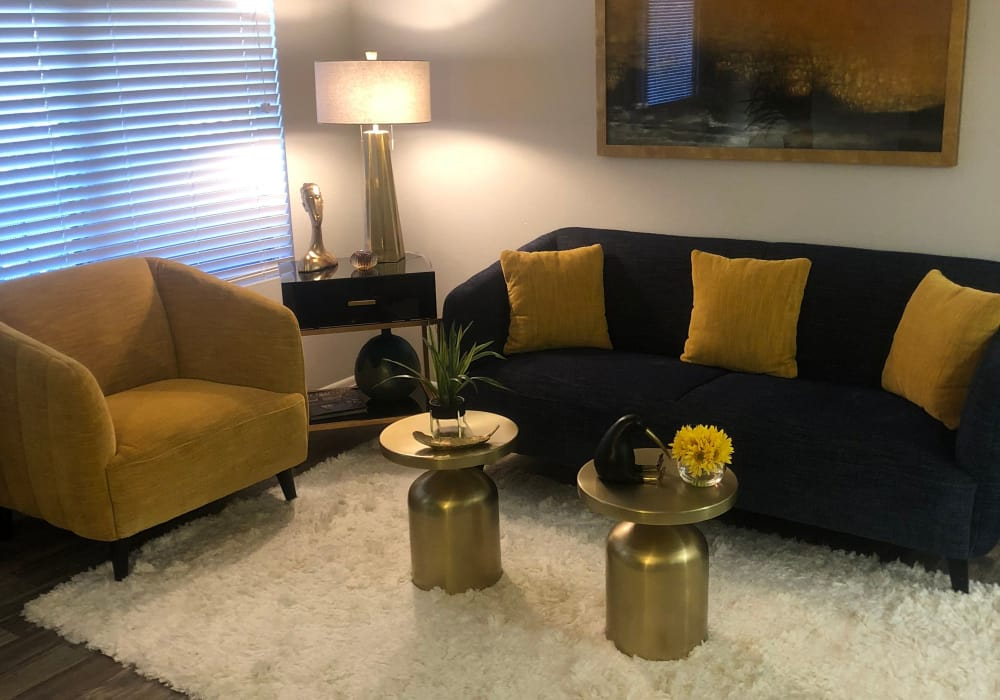 Modern living room at Elevation Apartments in Tucson, Arizona