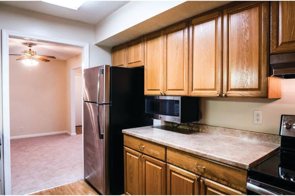 Plenty of kitchen counter space at Post Ridge Apartments in Nashville, Tennessee.