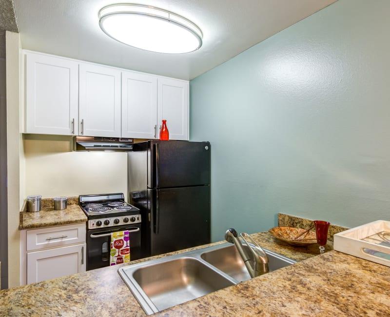 Modern kitchen at Olive Ridge in Pomona, California